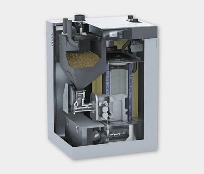 Caldaia a pellet automatica idro pellets viessmann for Caldaia a pellet vitoligno 300 c prezzi